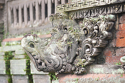 Temple Statue Carving - Bali