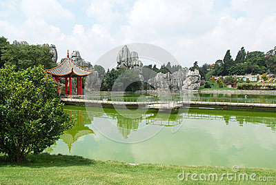 Temple at the Stone Forest
