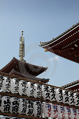 Free Temple - Tokyo Japan Stock Photography - 13035322