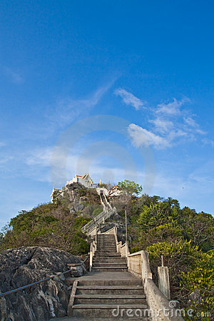 Temple on top of mountain, south of Thailand