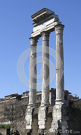 Temple of Vespasian columns