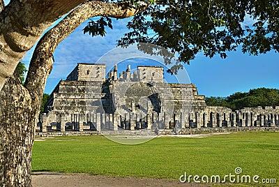 Temple of the Warriors. Chichen Itza, Mexico