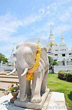 Temple of Wat Asokaram, Samut Prakan, Thailand