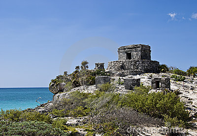 Temple of the Wind in Tulum Mexico