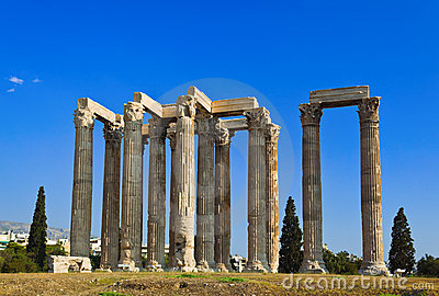 Temple of Zeus at Athens, Greece
