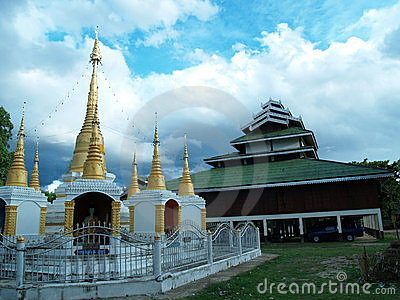 Temples and chedis. Pai, Thailand