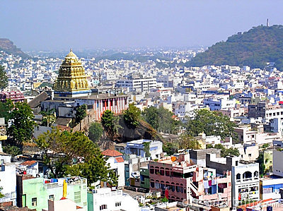 Templo antiguo en ciudad india