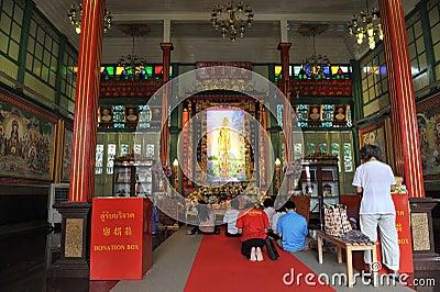 Templo chino Foto editorial