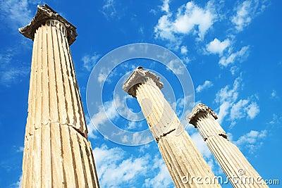 Templo de Hadrian en Ephesus, Turquía