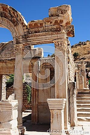 Templo de Hadrian, Ephesus, Turquia y