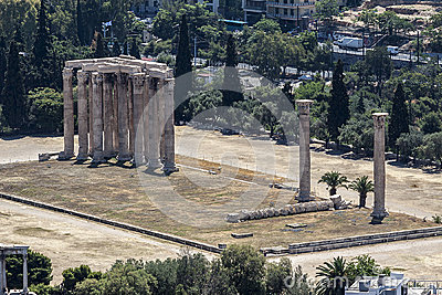 Templo do Zeus Atenas do olímpico