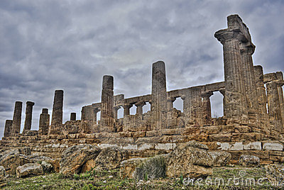 Templo griego de Agrigento en hdr