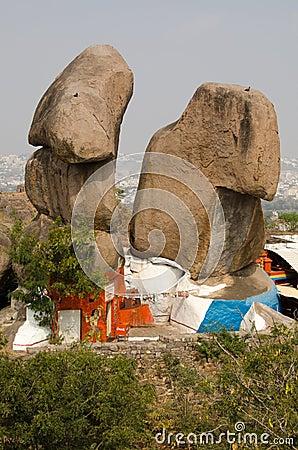 Templo hindu, forte de Golkonda