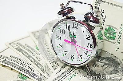 Tempo é dinheiro conceito