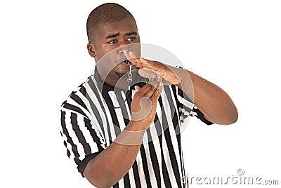 Tempo de chamada preto do árbitro para fora ou uma falta técnica