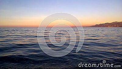 Tempo di tramonto per la riflessione archivi video