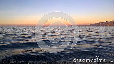 Tempo di tramonto per la riflessione video d archivio