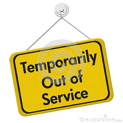 Free Temporarily Out Of Service Sign Stock Image - 77224841