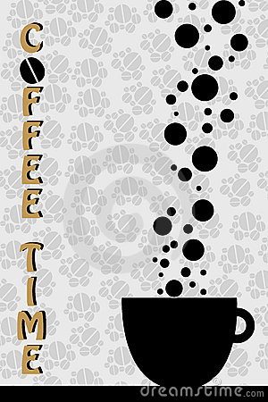 Temps de café - vecteur