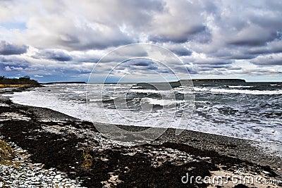 Temps orageux par la mer