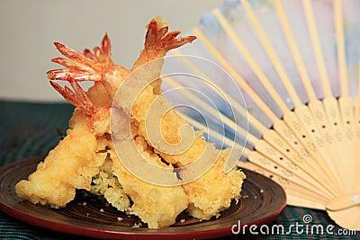 Tempura do camarão
