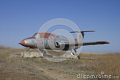 Temryuk. Military airplan Editorial Stock Photo