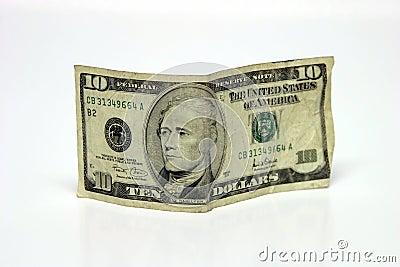 Ten dollar bill Stock Photo