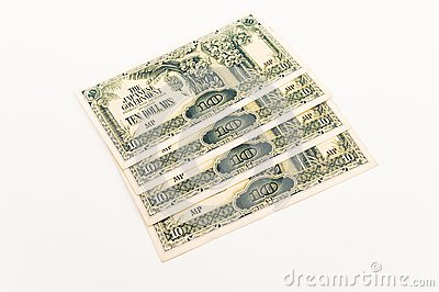 Ten Dollar Japanese Note