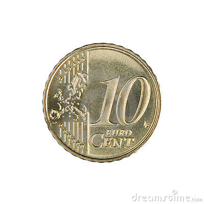 Free Ten Euro Cent Coin Stock Image - 5262871