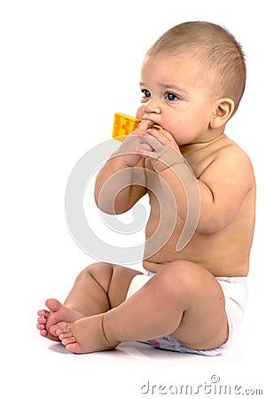 Ten months baby sitting