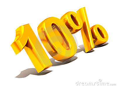 Ten Percent. Gold Royalty Free Stock Photo - Image: 4317725