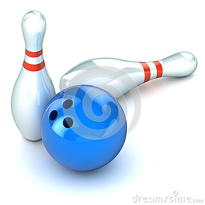 Ten Pin Bowling Illustration