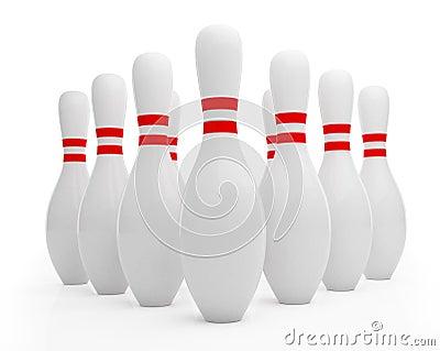 Ten pin bowling skittles