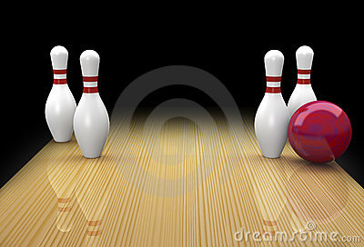 Ten pin bowling spare called Big Ears