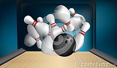 Ten pin strike out