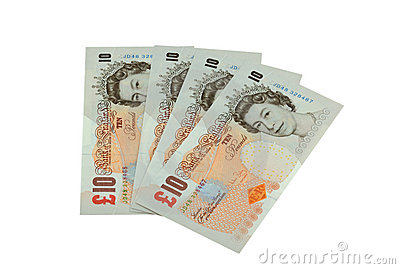 Ten Pound Notes Editorial Image