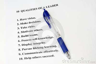 Ten Qualities of a Leader