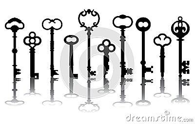 Ten Skeleton Key Icons