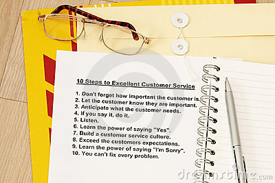 Ten steps to excellent customer service