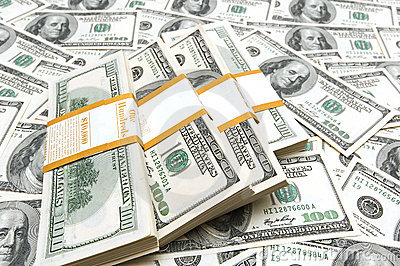 Ten thousand dollar stacks