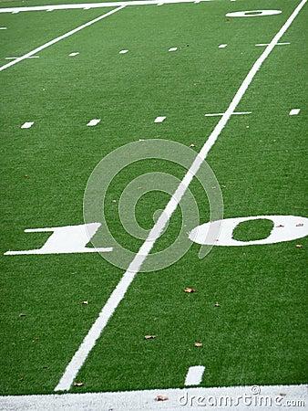 Ten Yard Line On Football Field