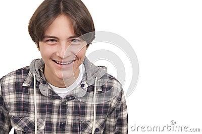 Tenage boy smiling