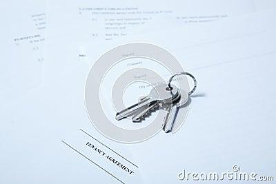 Tenancy agreement with keys