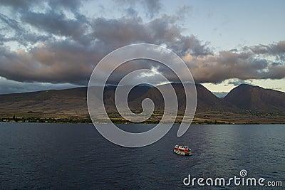 Tender boat in Lahaina