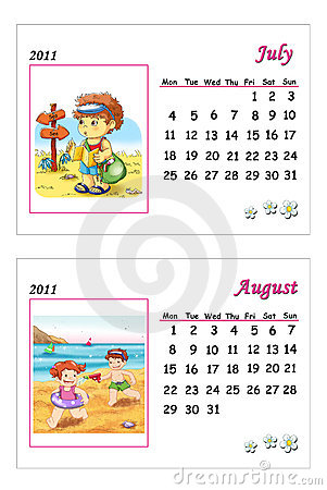 Tender calendar 2011 - July and August