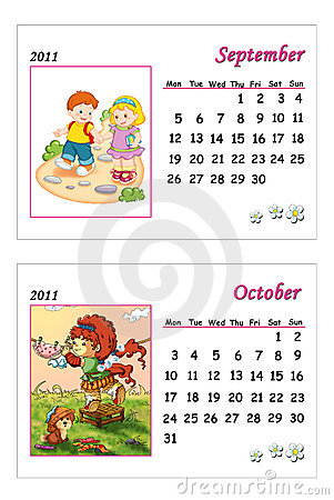 Tender calendar 2011 - September and October