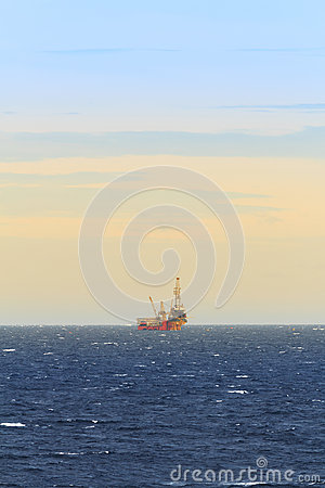 Tender Drilling Oil Rig In The Ocean