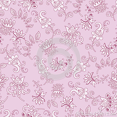 Tender fantasy seamless pattern