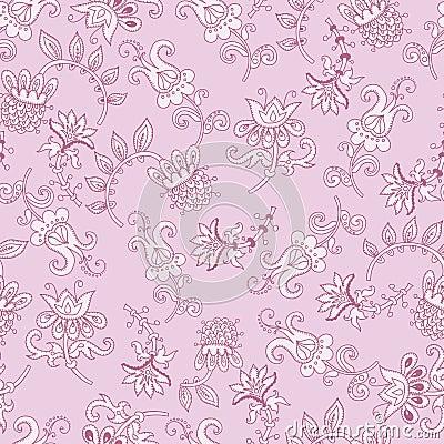 Tender fantasy seamless pattern