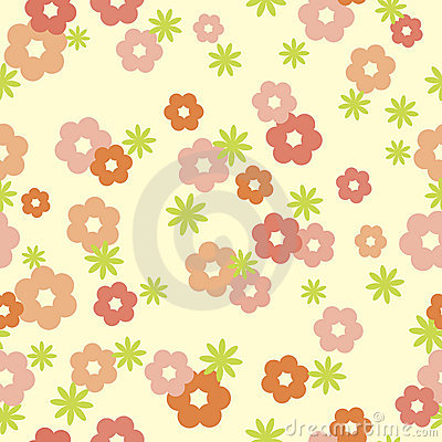 Tender floral seamless background